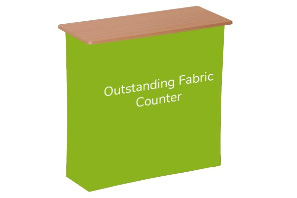 Textil Grafik für Outstanding Fabric Counter | Messetheke | Promotiontheke